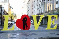 中央大街LOVE特色雕塑品