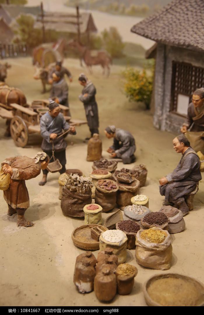 辽东马市泥塑-卖干货图片