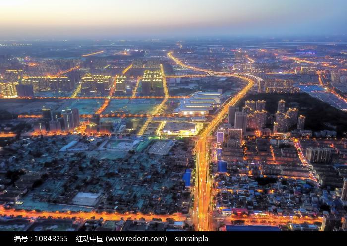 俯瞰济南二环西路夜景图片