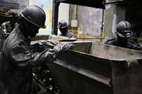 煤矿工人雕像
