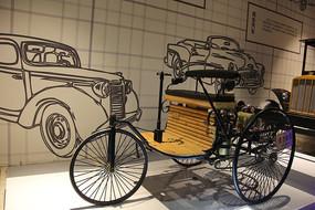 蒸汽三轮车模型