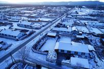 大兴安岭林区森林小镇雪景