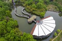 俯瞰南湾湖茶岛茗萃苑