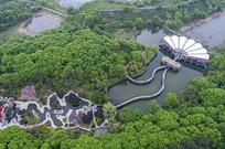 俯瞰南湾湖茶岛主景区