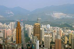 深圳深南东路地区城市风光