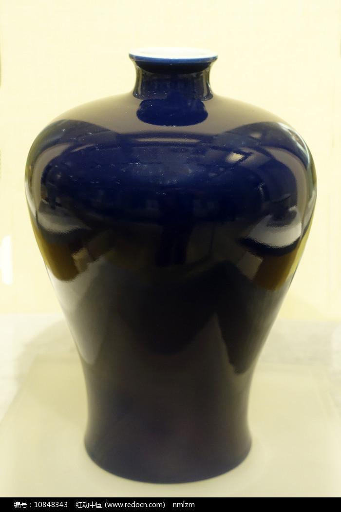 清代祭蓝釉梅瓶 图片