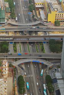 深圳道路交通桥梁俯拍