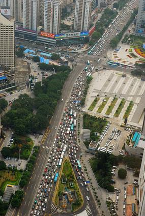 深圳深南东路地区俯拍