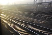 朝阳钢轨铁路线