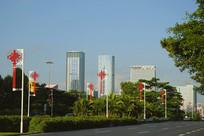 中国结路灯装饰
