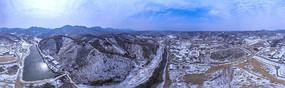 白雪皑皑大别山宽幅大图