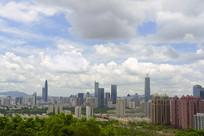 深圳城市中心区俯瞰