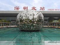 深圳北站及广场水滴雕塑