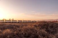 茶卡盐湖的早晨