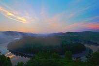 大兴安岭激流河白鹿岛朝阳