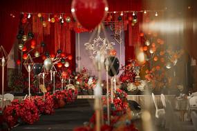 红色婚庆布置
