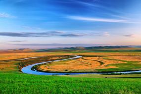 呼伦贝尔草原河湾牧场