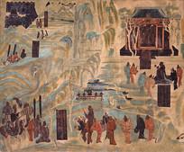 敦煌莫高窟壁画之张骞出使西域图