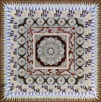 敦煌莫高窟之对称的方形券顶图案