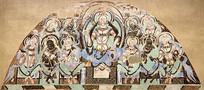 克孜尔千佛洞壁画之弥勒说法图