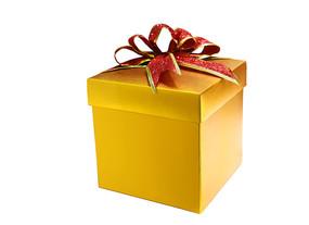精美的金色礼盒