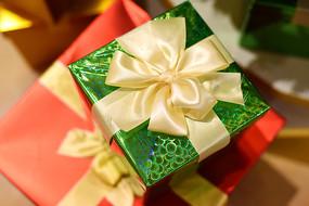 精美圣诞礼盒特写