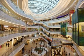 上海七宝万科广场的内部建筑