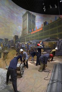 深圳国贸大厦建设场景雕塑