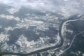 航拍俄罗斯乌格里奇伏尔加河