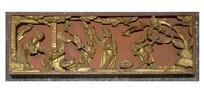 金漆木雕人物故事纹饰板