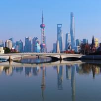 上海陆家嘴地标建筑群