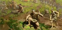宝墩文化人类活动雕塑