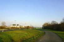德国法兰克福郊区道路