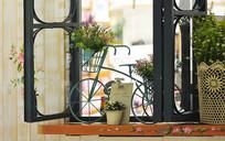 小文艺风格的窗台装饰