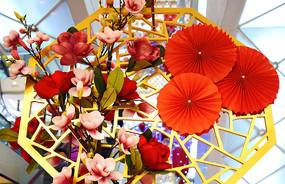 中式花卉装饰