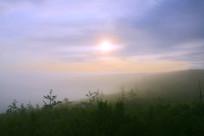 大兴安岭林海云雾朝阳