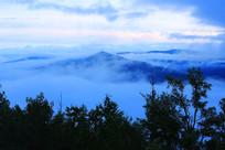 大兴安岭原始森林云雾晨光