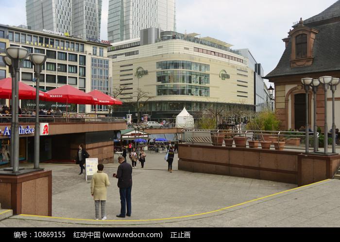 德国法兰克福城市中心广场图片