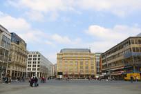 德国法兰克福中心区城市风光