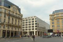 德国法兰克福中心区广场风光