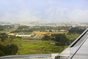 航拍成都双流国际机场大地景观