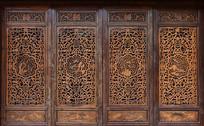 木雕镂空阁窗