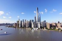 上海陆家嘴的建筑风光