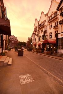 上海泰晤士小镇的街景