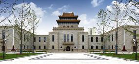 古典风格的杨浦图书馆