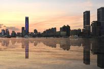 黄昏时分的上海北外滩风光