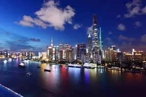 上海陆家嘴全景风光