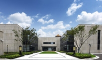 上海杨浦区图书馆侧门