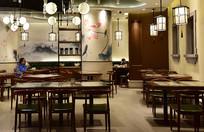 中式风格的餐馆一角