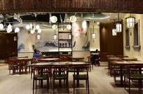 中式风格的餐厅内景